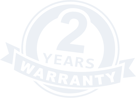 Two years warranty